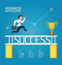 business run to success concept infographics vector image vector image