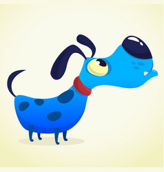 cartoon blue dog vector image vector image