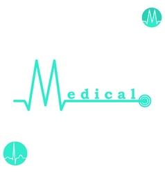 M letter medicine logo template vector image