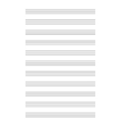 Music note stave a4 sheet vector image vector image