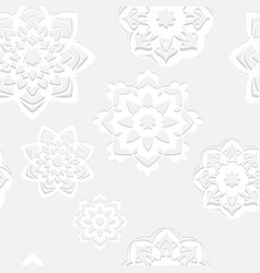 seamless pattern with white lace elements vector image
