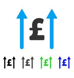 Send pound flat icon vector