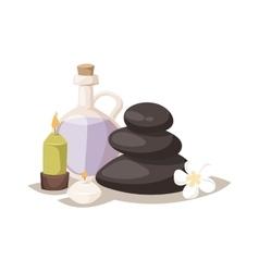 Aroma spa stones vector image