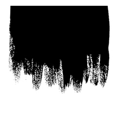 Black background with paint drips vector image