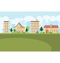 Buildings landscape background vector image