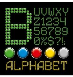 green battons letters alphabet p2 vector image