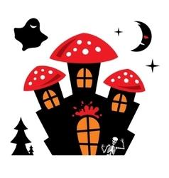 Halloween Castle Cartoon vector image
