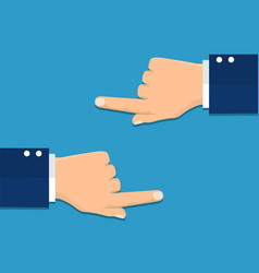 hand with pointing finger left and right side vector image