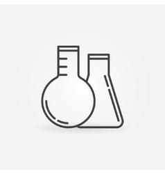 Laboratory glass concept icon vector image