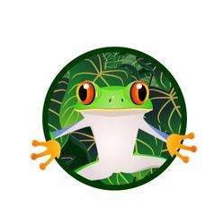 frog cartoon vector image vector image