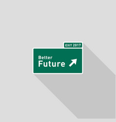 future highway road sign direction flat design vector image