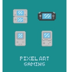 Pixel art retro video game vector image