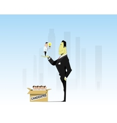 Searching job vector image