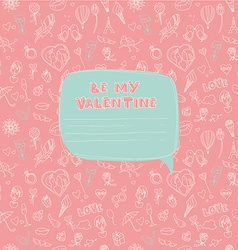 Valentines Day seamless pattern with place for vector image