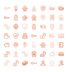 49 safe icons vector image