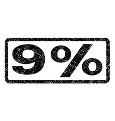 9 percent watermark stamp vector