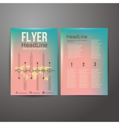 Abstract Brochure Flyer design with the timeline vector image