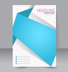 Abstract flyer design template vector
