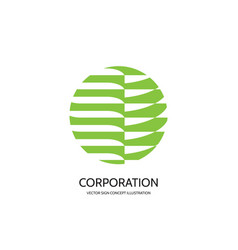 abstract logo template concept vector image