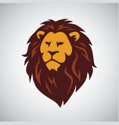 africa wild lion logo vector image