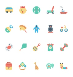 Baby and kids colored icons 5 vector