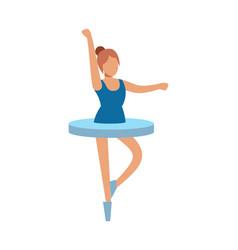 ballerina dancing pretty woman in beauty ballet vector image