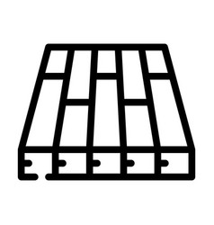 Batten floor line icon liquid vector