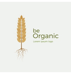 Be organic logo vector image