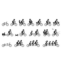 Bicycle accessories and equipments pictograms vector