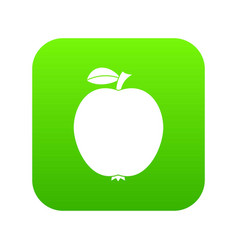 black apple icon digital green vector image