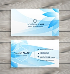 Blue flower floral business card vector