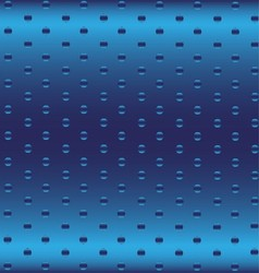 Blue Metallic Grid Dot Background vector image