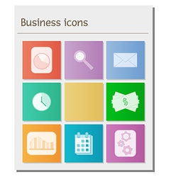 board with different business symbols vector image