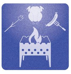 Brazier zephyr chicken and sausage icon vector