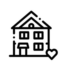 Building house living home thin line icon vector