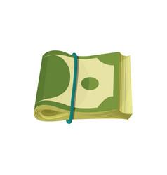 bundle of american banknotes dollar bills folded vector image