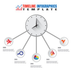 Business modern timeline infographic template vector