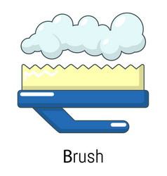 Carpet brush icon cartoon style vector