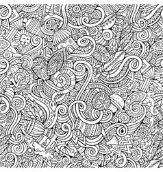 Cartoon hand-drawn doodles on the subject vector