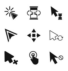 Clicking icons set simple style vector
