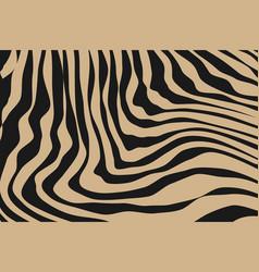 Close up stripe animal pattern vector
