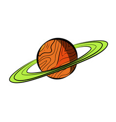 Color sketch saturn vector