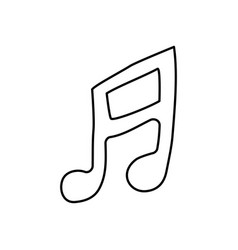 contour musical note icon flat vector image