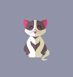 Cute cat - flat design vector