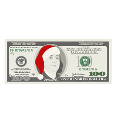 Design template 50 dollars banknote with santa vector