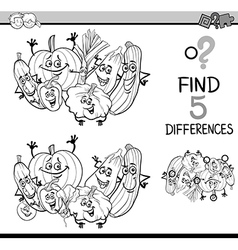 Differences task coloring book vector