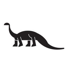 diplodocus black concept icon diplodocus vector image