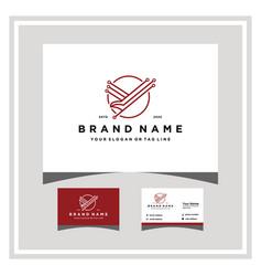 Eagle tech logo design with a business card vector