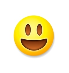 Emoticon laughing emoji smile symbol vector image