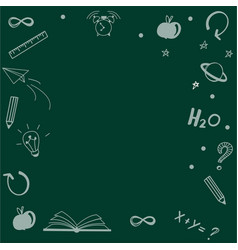 empty black chalkboard background vector image